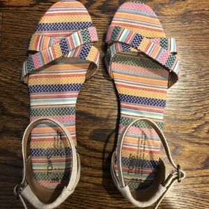Toms women's sandals, size 9.5